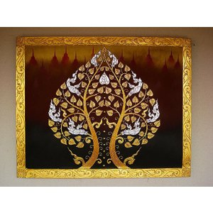 アジアンアート オリエンタルモダン絵画 アートフレーム 壁飾り  タイアート|store-monsoon|02