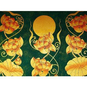 アジアンアート オリエンタルモダン絵画 蓮 壁飾り  アートフレーム タイアート|store-monsoon|03