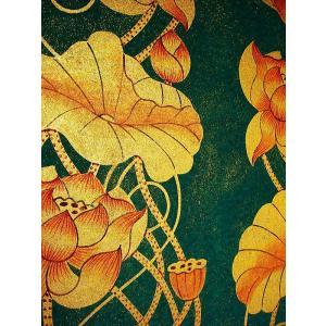 アジアンアート オリエンタルモダン絵画 蓮 壁飾り  アートフレーム タイアート|store-monsoon|05