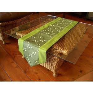 テーブルランナー テーブルセンター テーブルクロス アジアン雑貨  タイシルク  敷物 壁掛け タペストリー|store-monsoon