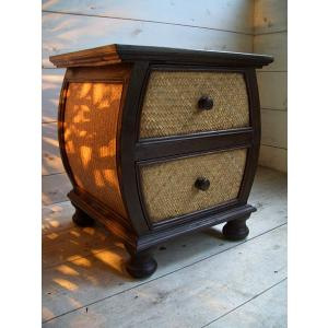 アジアン家具 チェスト ◆アジアン サイドテーブル◆2段 棚 飾り台 木製|store-monsoon