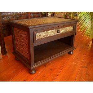 アジアン家具  ナイトテーブル TVボード ローボード 木製家具 棚 収納棚 机 アンティーク調 オリエンタル エスニック タイ バリ|store-monsoon