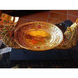 タイ オブジェ(ゴールド)  インテリア アジアン雑貨 置物 彫刻 鐘付き|store-monsoon|04