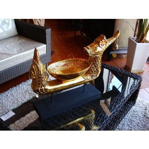 タイ オブジェ(ゴールド)  インテリア アジアン雑貨 置物 彫刻 鐘付き|store-monsoon|05