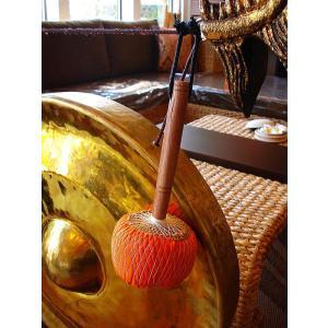 銅鑼オブジェ ゴング (直径50cm) 台座付き バチ付き タイ 置物 アジアンインテリア アジアン雑貨 楽器  |store-monsoon|04