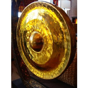 銅鑼オブジェ ゴング (直径50cm) 台座付き バチ付き タイ 置物 アジアンインテリア アジアン雑貨 楽器  |store-monsoon|05