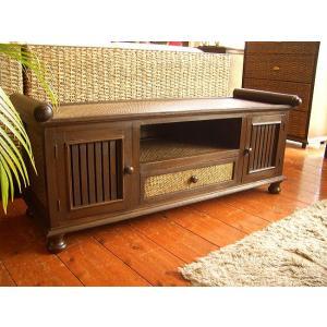 アジアン家具 TVボード テレビボード(W120) 木製テレビボード ローボード オリエンタル タイ |store-monsoon
