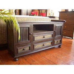 アジアン家具 TVボード テレビボード(W120) キャビネット 木製家具 アンティーク調 オリエンタル タイ バリ|store-monsoon
