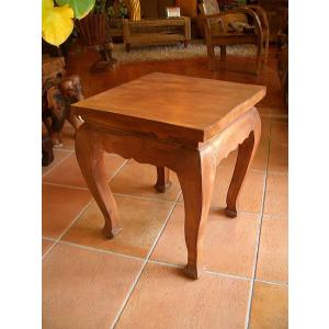 木製チークテーブル カフェテーブル サイドテーブル ナイトテーブル アジアン家具  store-monsoon