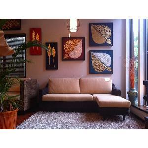 SALE!! アジアン家具 アバカ 3way ソファー オットマン付き 送料無料 W170 (アイボリー)|store-monsoon