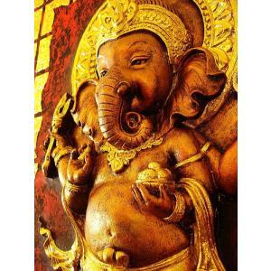 ガネーシャ インド エスニック アジアンアート オリエンタルモダン絵画 アートフレーム 壁飾り  タイアート|store-monsoon|05