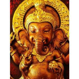 ガネーシャ インド エスニック アジアンアート オリエンタルモダン絵画 アートフレーム 壁飾り  タイアート|store-monsoon|06