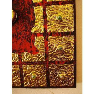 ガネーシャ インド エスニック アジアンアート オリエンタルモダン絵画 アートフレーム 壁飾り  タイアート|store-monsoon|08