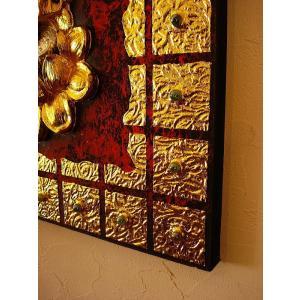 ガネーシャ インド エスニック アジアンアート オリエンタルモダン絵画 アートフレーム 壁飾り  タイアート|store-monsoon|09