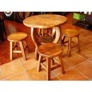 チークテーブル5点セット キッズ用テーブルセット 子供用 アジアン家具 木製 |store-monsoon