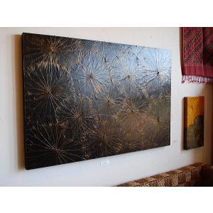 蓮の葉アート アジアンアート ロータスアートフレーム 80×120  壁飾り 絵画 和風絵画 店舗ディスプレイ|store-monsoon