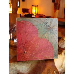 蓮の葉アート アジアンアート ロータスアートフレーム  壁飾り 絵画  和風絵画 店舗ディスプレイ|store-monsoon|02