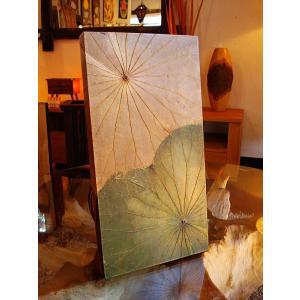 蓮の葉アート アジアンアート ロータスアートフレーム  壁飾り 絵画  和風絵画 店舗ディスプレイ store-monsoon 02