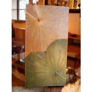 蓮の葉アート アジアンアート ロータスアートフレーム  壁飾り 絵画  和風絵画 店舗ディスプレイ store-monsoon 03