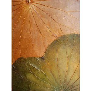 蓮の葉アート アジアンアート ロータスアートフレーム  壁飾り 絵画  和風絵画 店舗ディスプレイ store-monsoon 04