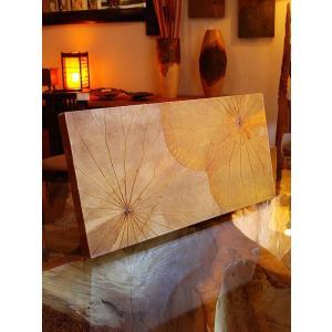 蓮の葉アート アジアンアート ロータスアートフレーム  壁飾り 絵画  和風絵画 店舗ディスプレイ|store-monsoon