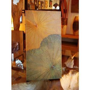 蓮の葉アート アジアンアート ロータスアートフレーム  壁飾り 絵画  和風絵画 店舗ディスプレイ|store-monsoon|03