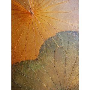 蓮の葉アート アジアンアート ロータスアートフレーム  壁飾り 絵画  和風絵画 店舗ディスプレイ|store-monsoon|04