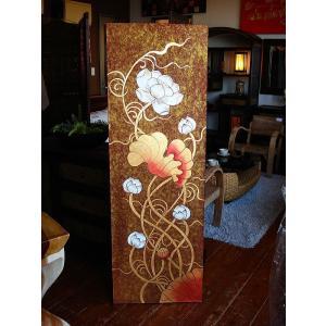 アジアンアート オリエンタル絵画 アートパネル アートフレーム アジアン絵画 蓮 壁飾り  タイ|store-monsoon|03