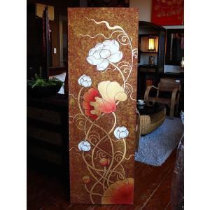 アジアンアート オリエンタル絵画 アートパネル アートフレーム アジアン絵画 蓮 壁飾り  タイ|store-monsoon|04