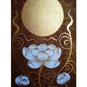アジアンアート オリエンタル絵画 アートパネル アートフレーム アジアン絵画 蓮 壁飾り  タイ|store-monsoon|05