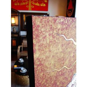 アジアンアート オリエンタル絵画 アートパネル アートフレーム アジアン絵画 蓮 壁飾り  タイ|store-monsoon|09