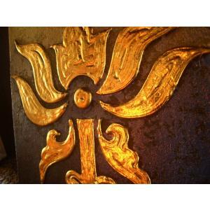 アジアンアート ペイントアートフレーム 象 タイオリエンタルモダン絵画  壁掛け ホテル サロン リゾート |store-monsoon|02