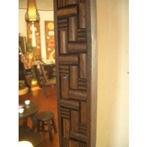 鏡  ミラー 天然木 木製 無垢 壁掛け  アジアンインテリア アジアン雑貨 store-monsoon 02