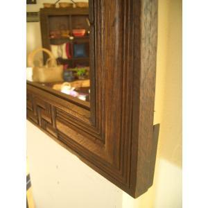 鏡  ミラー 天然木 木製 無垢 壁掛け  アジアンインテリア アジアン雑貨 store-monsoon 04
