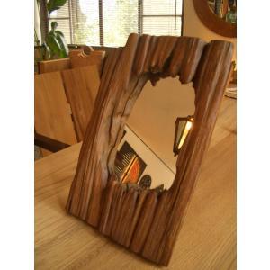 鏡  ミラー アジアン雑貨 チーク古木 木製  アジアンインテリア |store-monsoon