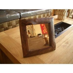 鏡  ミラー 卓上 木製 壁掛け  アジアンインテリア アジアン雑貨|store-monsoon|02