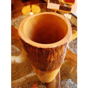 木製花瓶 木製花器 アジアン雑貨 マンゴーウッド花器 オブジェ フラワーベース アジアンインテリア   store-monsoon 02