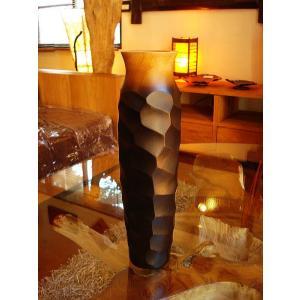 木製花瓶 木製花器 アジアン雑貨 マンゴーウッド花器 オブジェ フラワーベース アジアンインテリア  |store-monsoon