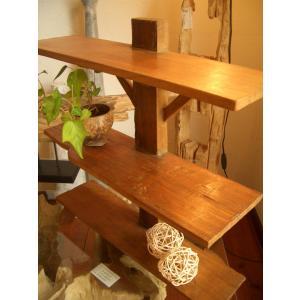 天然木飾り台 ◆オールドチーク ハンドメイド 飾り棚◆ 古木 アジアン カントリー 北欧 木製|store-monsoon