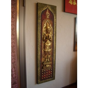 タイ仏像 Aタイプ タイオブジェ 装飾品 アジアンアート  壁飾り タイ料理店装飾 オリエンタルアート|store-monsoon