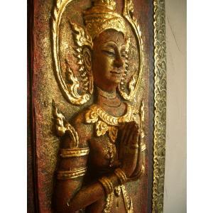 タイ仏像 Aタイプ タイオブジェ 装飾品 アジアンアート  壁飾り タイ料理店装飾 オリエンタルアート|store-monsoon|03