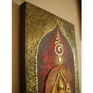 タイ仏像 Aタイプ タイオブジェ 装飾品 アジアンアート  壁飾り タイ料理店装飾 オリエンタルアート|store-monsoon|04