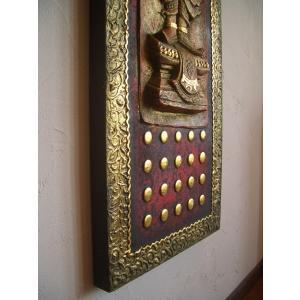 タイ仏像 Aタイプ タイオブジェ 装飾品 アジアンアート  壁飾り タイ料理店装飾 オリエンタルアート|store-monsoon|05