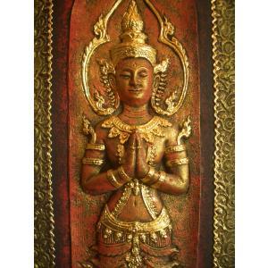 タイ仏像 Aタイプ タイオブジェ 装飾品 アジアンアート  壁飾り タイ料理店装飾 オリエンタルアート|store-monsoon|06