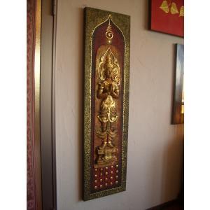 タイ仏像 Bタイプ タイオブジェ 装飾品 アジアンアート  壁飾り タイ料理店装飾 オリエンタルアート|store-monsoon