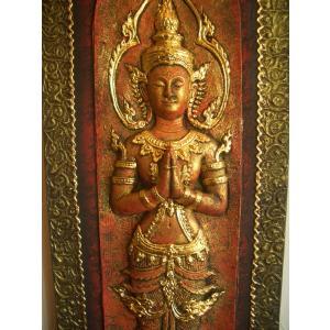 タイ仏像 Bタイプ タイオブジェ 装飾品 アジアンアート  壁飾り タイ料理店装飾 オリエンタルアート store-monsoon 02
