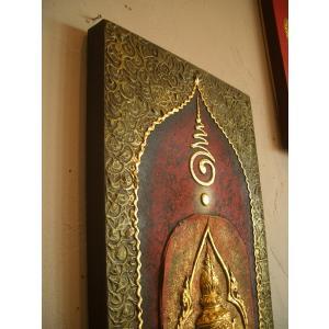 タイ仏像 Bタイプ タイオブジェ 装飾品 アジアンアート  壁飾り タイ料理店装飾 オリエンタルアート store-monsoon 03