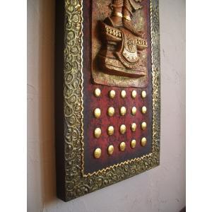 タイ仏像 Bタイプ タイオブジェ 装飾品 アジアンアート  壁飾り タイ料理店装飾 オリエンタルアート store-monsoon 04