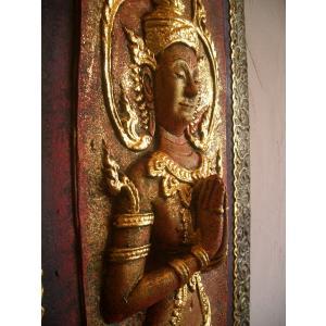 タイ仏像 Bタイプ タイオブジェ 装飾品 アジアンアート  壁飾り タイ料理店装飾 オリエンタルアート store-monsoon 05