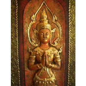 タイ仏像 Bタイプ タイオブジェ 装飾品 アジアンアート  壁飾り タイ料理店装飾 オリエンタルアート store-monsoon 06